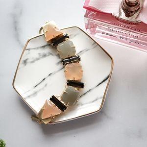 VINCE CAMUTO gemstone gold chunky bracelet peach